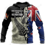 New Zealand Kiwi Bird Silver Fern T-Shirt Hoodie Zip all over shirts For Men and Women TR281202