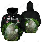 Tui Bird with Silver Fern New Zealand Hoodie PL181