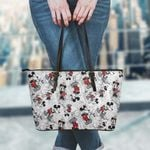 Mickey Leather Tote Hand Bag and Purse Set 01