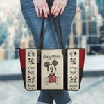 Mickey Leather Tote Hand Bag and Purse Set 07