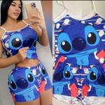 Stitch Cute Shorts Suit 01