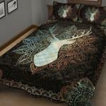 Amazing Deer Mandala Quilt Bed Set