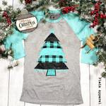 Mint Farmhouse Christmas Raglan