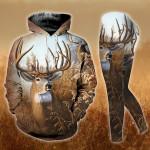 Wildlife Of Deer Hoodie Tank Top Legging 3D