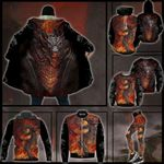 Dragon On Fire Hoodie Coat Legging Set Winter Clothes