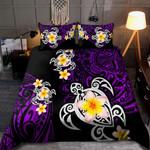 Amazing Polynesian Tattoo Purple Turtle Bedding Set
