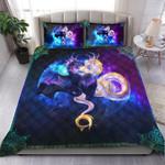 Galaxy Dragon Art Quilt Bedding Set