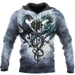 3D Tattoo and Dungeon Dragon Hoodie T Shirt For Men and Women