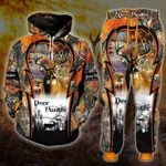 Deer Hunter Camouflage, Deer Hunter Gifts, Combo Hoodie and Joggers , Tshirt And Joggers All Over Printed