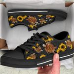 SEA TURTLE FLOWER LOW TOP SHOES