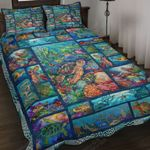 Turtle And Ocean Through Picture Art Quilt Bed Set
