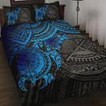 Samoa Polynesian Quilt Bed Set - Samoa Seal & Blue Turtle Hibiscus
