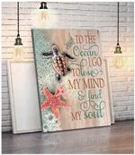 And To The Ocean Turtle Wall Art Canvas