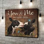 Cattle You and Me We got this Canvas Couple Gift Wedding Anniversary Wall Art Wall Decor