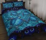Four Turtles Ocean Quilt Bed Set