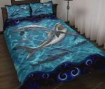 Whale Sharks Swimming Quilt Bed Set