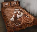 Horse White Brown Vintage Bedding Set