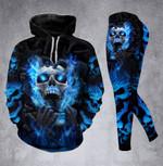 Skull Blue Scream Hoodie Set