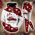 I Love Being A Grammy Red Buffalo Truck Hoodie Set