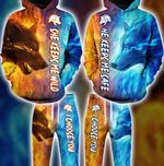 Wolf Water Fire Couple Hoodie Set