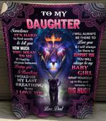 Dad - Daughter Lion Sometimes Its Hard Quilt