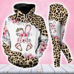Nana Bunny Easter Leopard Hoodie Set