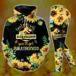 Don't Mess With Mama Saurus Sunflower Hoodie Set