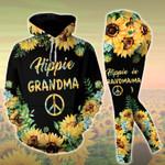 Hippie Grandma Sunflower Hoodie Set