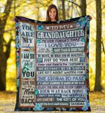 To My Granddaughter - You are my life - Fleece Blanket C02