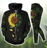 Choose Happy Sunflower Tank Top Hoodie Set