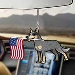 Cattlemasters Dog With Flag Car Hanging Ornament-2D Effect