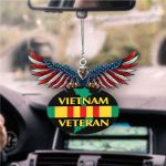 Eagle Military Veteran  United States Eagle Flag, Best gift for Independence Day, Memorial day, Car Hanging Ornament 4.9