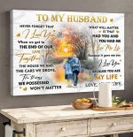 To My Husband Never Forget That You're My Life I Love You Horizontal Poster