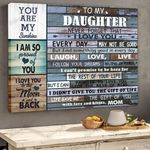 To My Daughter, Life Gave Me The Gift Of You With Love And Kisses, Mom Horizontal Poster