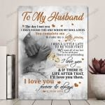 To My Husband If There Is Life After That I'll Love You Then Vertical Poster