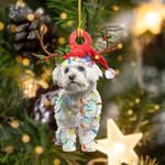 Maltese Christmas Lights Shape Ornament / DVHPQH061220