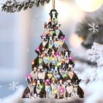 Boston terrier lovely tree gift for boston terrier lover gift for dog mom ornament