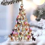 Basenji lovely tree gift for basenji lover gift for dog lover ornament