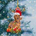 Dachshund Christmas Lights Shape Ornament