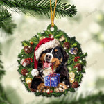 Bernese Mountain and Christmas gift for her gift for him gift for Bernese Mountain lover ornament