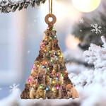 Shar pei lovely tree gift for shar pei lover gift for dog lover ornament