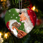 Staffy/Staffordshire Bull Terrier happy heart gift for dog lover ornament