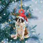 ST.Bernard Christmas Lights Shape Ornament / DVHPQH071220
