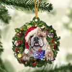 English Bulldog and Christmas gift for her gift for him gift for English Bulldog lover ornament