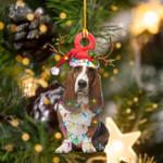 Basset Hounds Christmas Lights Shape Ornament / DVHPQH111220