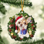Chihuahua and Christmas gift for her gift for him gift for Chihuahua lover ornament