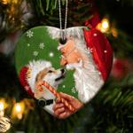 Shiba Inu Christmas Lights Shape Ornament