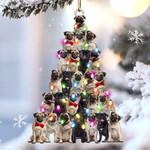 Pug lovely tree gift for pug lover gift for dog mom ornament