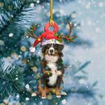 Bernese Mountain Christmas Lights Shape Ornament / DVHPQH071220