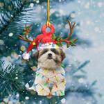 Shih Tzu Light Christmas Shape Ornament / DVHPQH061220